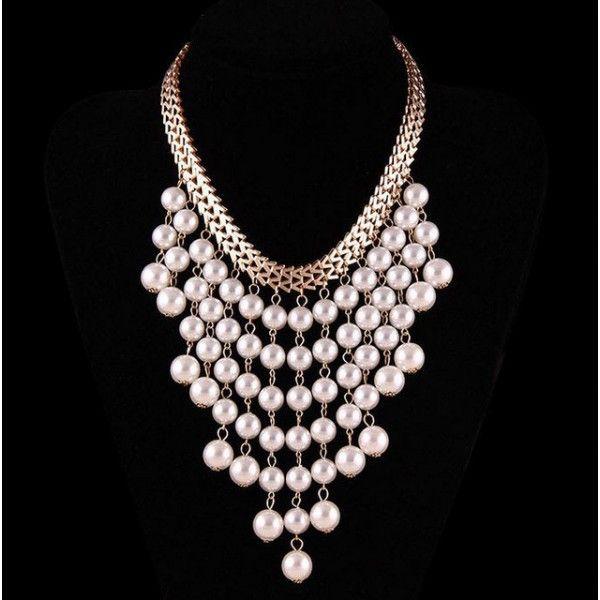 náhrdelník perlové strapce Naturedesign 45 cm