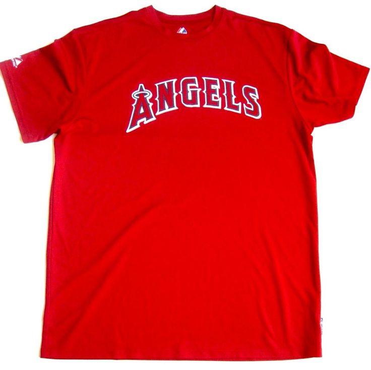 MLB Los Angeles Angel's Anaheim Baseball Red Cool Base Shirt Men's XL Majestic  | Sports Mem, Cards & Fan Shop, Fan Apparel & Souvenirs, Baseball-MLB | eBay!