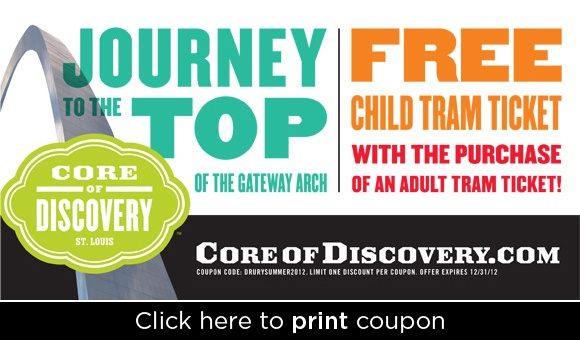 St louis arch discount coupons