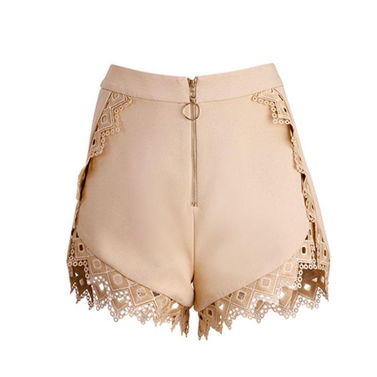 GRUTE Laced Hem Shorts