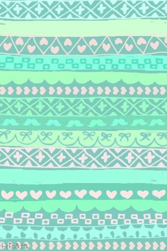 Best 25 mint green wallpaper iphone ideas on pinterest mint aztec print wallpaper mint green voltagebd Gallery