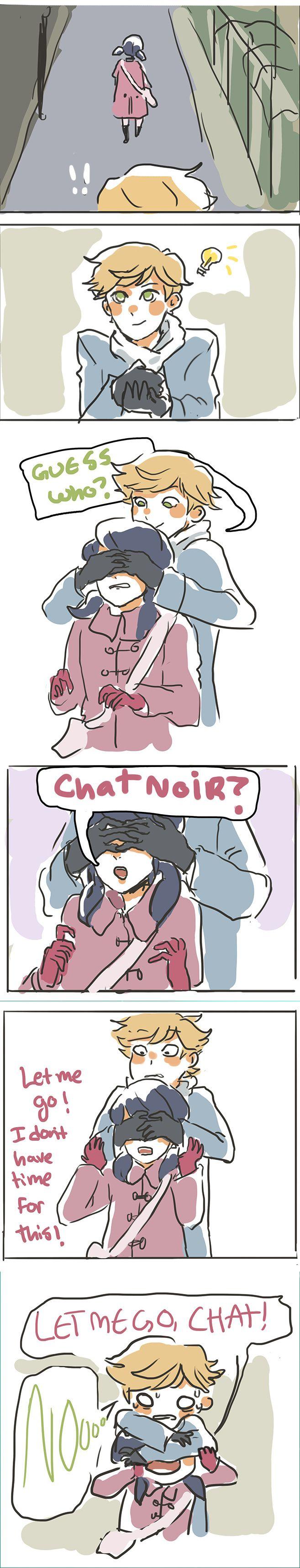 P-pero si ella no está transformada es como si supiera que Chat Noir conoce su verdadera identidad.. aún así xD