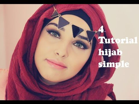 4 Tutorial Hijab simple ❤automne hiver ❤ - YouTube