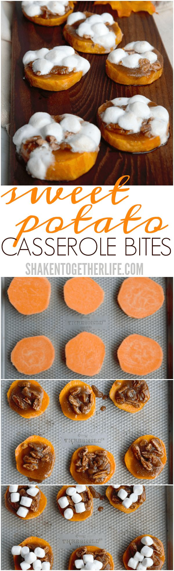 Sweet Potato Casserole Bites have all the taste of classic sweet potato casserole, but with only 5 ingredients, this holiday dish is done is no time!