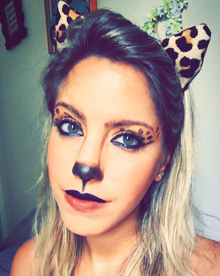 #makeup #costume #cheetah #festaafantasia #fantasia #carnaval #onça #oncinha #leopardo #maquiagem