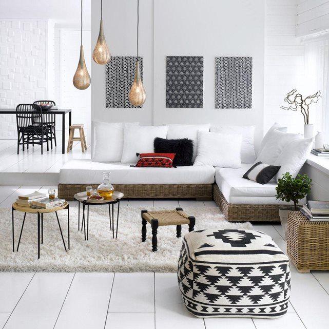 Pouf imprimé agag La Redoute Interieurs | La Redoute