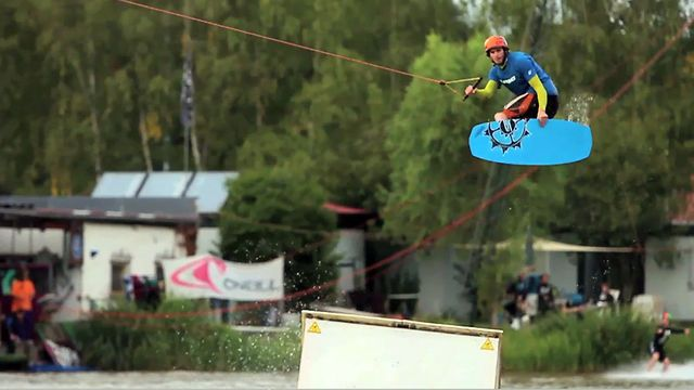 """Watch Tobi """"The Hellracer"""" Rittig in his new """"WOW"""" flick at WakeParkThulba Germany/Bavaria!!"""