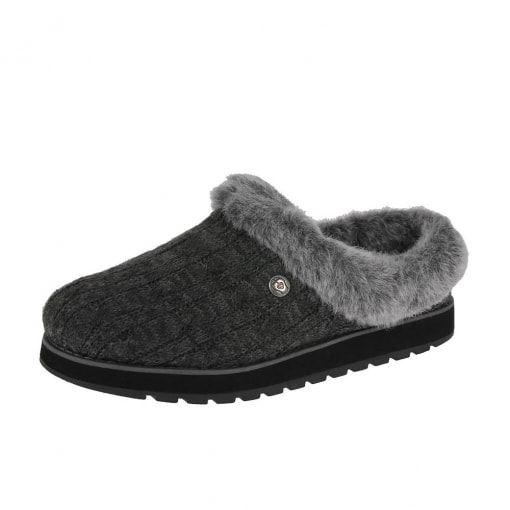 Skechers Bobs Keepsakes Ice Angel 31204 Slippers Charcoal
