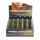 M Double You Amino X-Plode 1 x 20 x 25 ml - Amino X-Plode is een vloeibaar voedingssupplement dat per ampul maar liefst 10.000 mg vrije vorm aminozuren bevat. Vrije vorm aminozuren hoeven in tegenstelling tot prote�ne niet eerst door spijsverteringsenzymen te worden afgebroken en zijn zodoende direct klaar zijn voor opname.