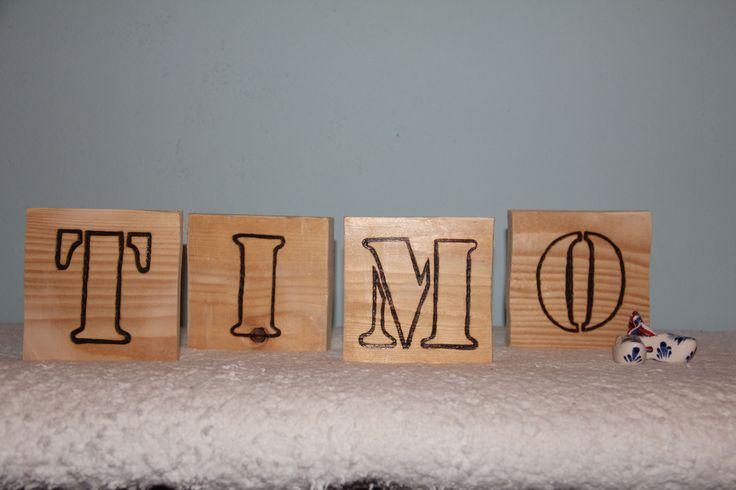 WOOD letters (boy), voor de stoerste jongens van de hele wereld!! Burned by www.wooddesign.jouwweb.nl