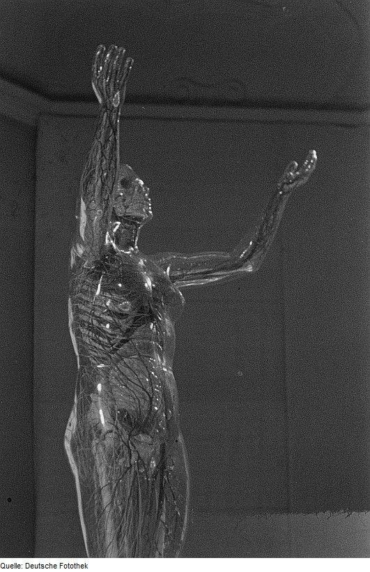 The original Gläserne Frau is still on display at the German Hygiene Museum, Dresden - Central Institute of Medical Education.