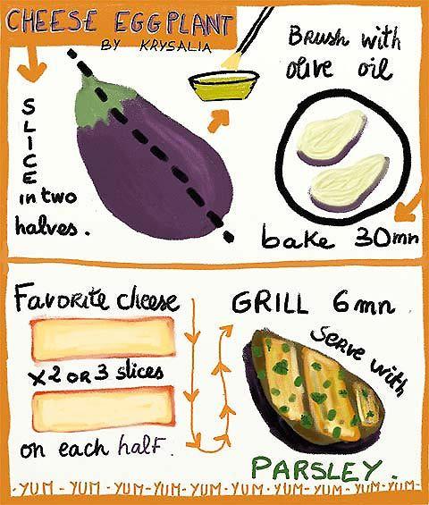 Recipe art - Cheese Eggplant