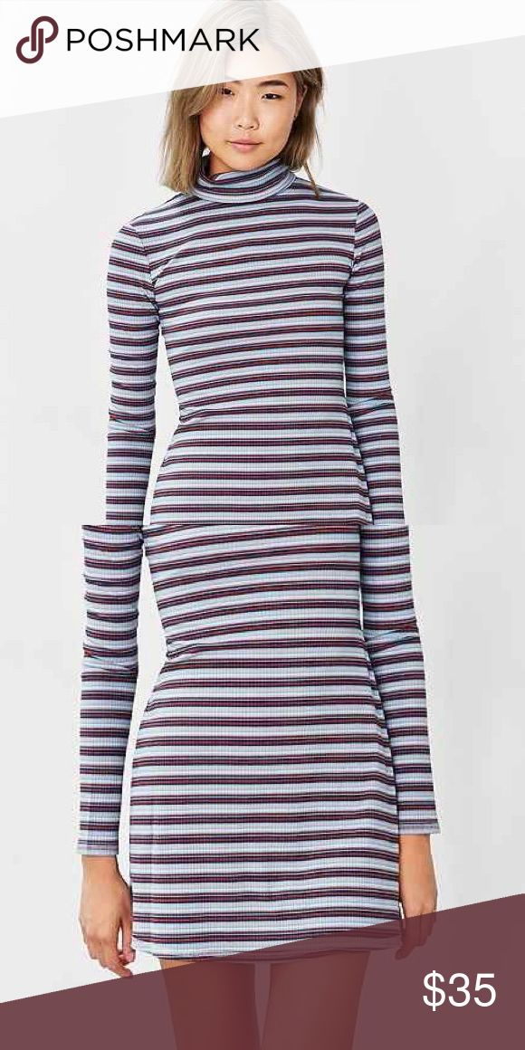 Striped turtleneck dress Never worn long sleeve turtleneck dress from urban outfitters! Perfect condition Urban Outfitters Dresses Long Sleeve