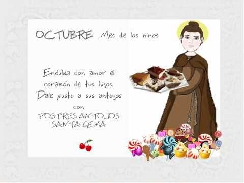 Tarjeta virtual , invitación al mes de los niños Octubre. POSTRES ANTOJOS SANTA GEMA. Categoría: Diseño multimedia