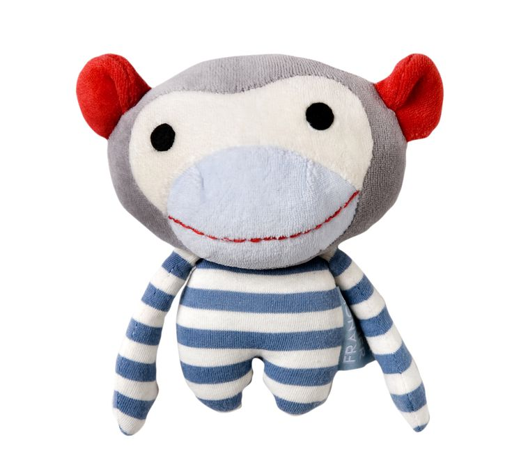 Findus - a litte soft monkey friend made from organic cotton and designed to be held and loved by little ones! From Frank & Fischer, Denmark