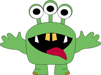monster clipart for kids | Three Eyed Monster Clip Art Image - green monster with three eyes ...