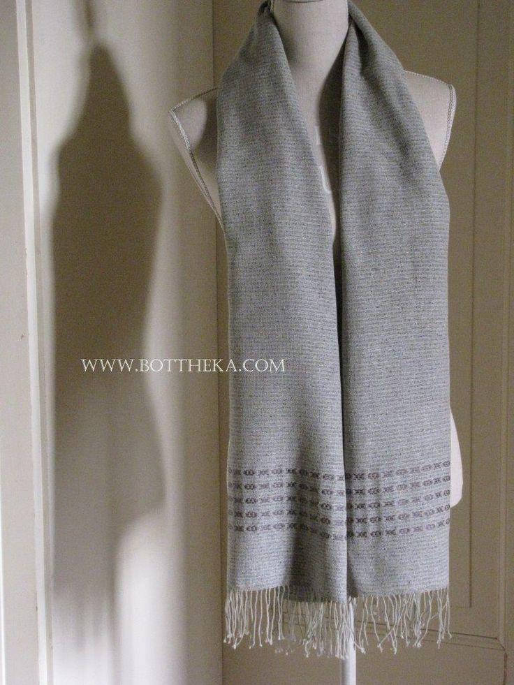 Mr.Shawl - silk, cotton, ito yarn, weaving, stole, gray http://bottheka.com/en/mrshawl