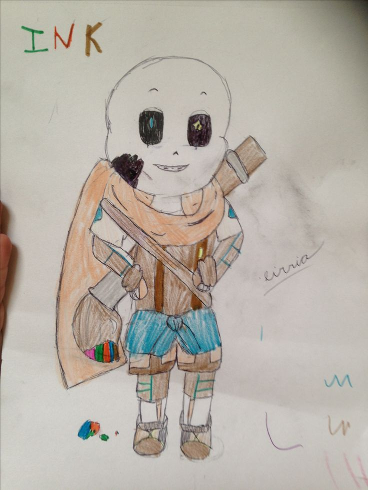 The firste time I drawe ink frome undertale