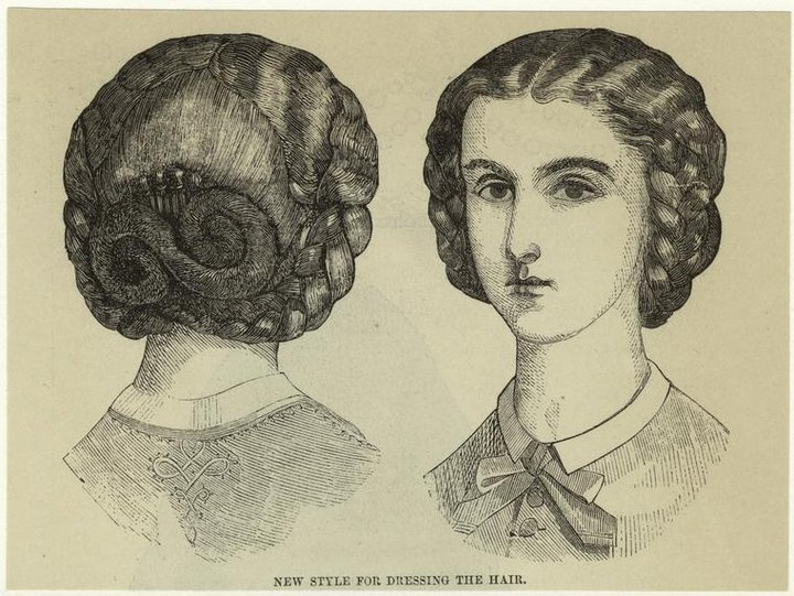 194 best hair styles 1800s images on pinterest hairstyles large braids into an infinity chignon ccuart Image collections