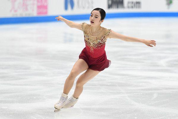 Marin Honda of Japan competes during the figure skating Japan Open at Saitama Super Arena on October 7, 2017 in Saitama, Japan.