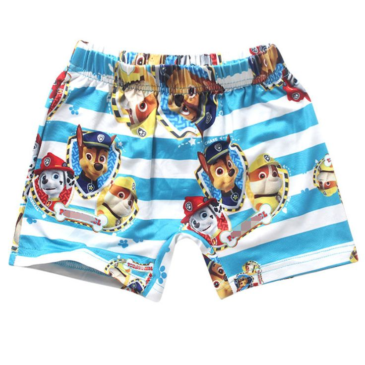 Swimwear 2016 Summer The fashion style boy swimming trunks cartoon puppy dog boys baby children boys the beach swimming trunks