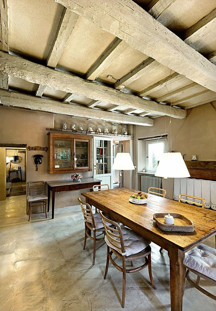 cocina rustica techo