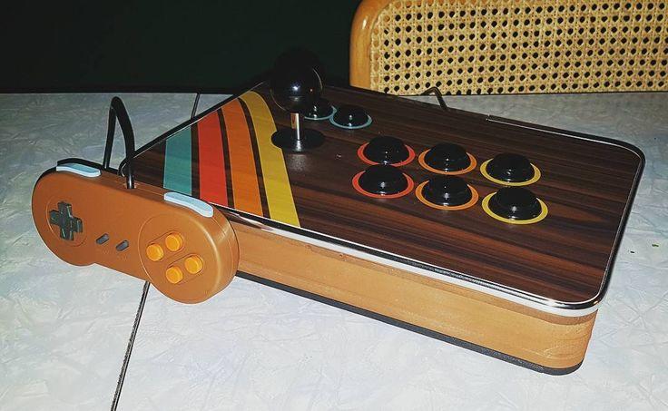 """@dipkid """"Tonight's build. If they played Tekken in 1976. . . . . . #1976 #Retropie #arcade #fightstick…"""""""