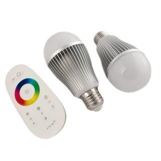 2x E-27 LED 7W RGBW steuerbar + FB