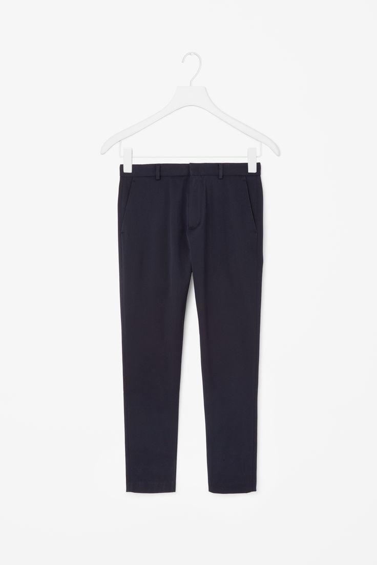 COS   Slim-fit cotton trousers