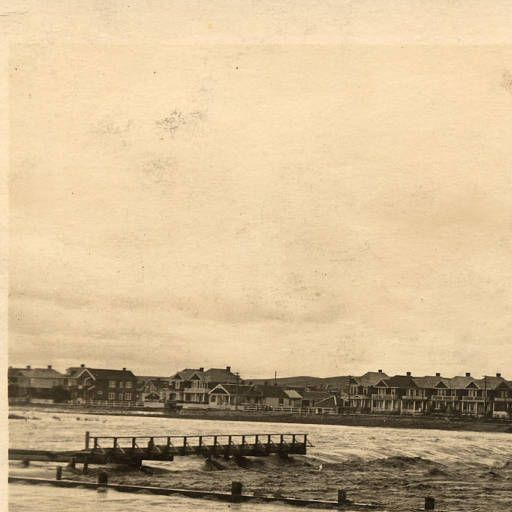 Bow in Flood. Louise Bridge June 26, 1915 :: Postcards From the Past
