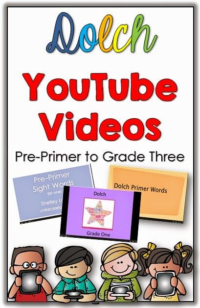 Tracking Reading Fluency with Games for all lists and a FREEBIE plus Dolch YouTube videos for all lists.