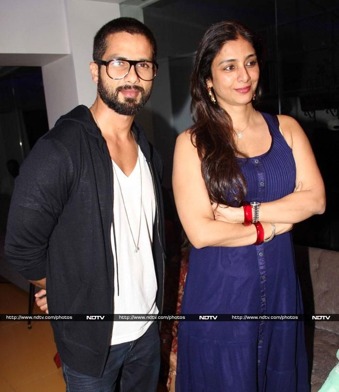 Shahid Kapoor poses with Tabu
