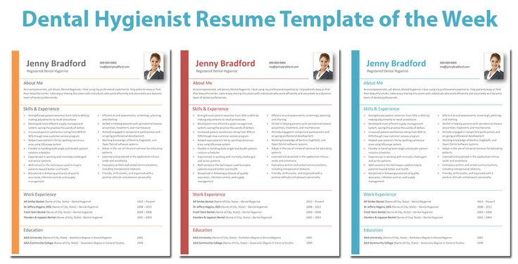 This week's highlighted resume... Jenny! Jenny offers a streamlined, yet colorful feel that draws the eyes from top to bottom through your entire resume. Employers will easily find what they are looking for and be delighted to see this fresh approach to resume design. Get it now for only $7 at http://gethiredrdh.com/resume-templates/