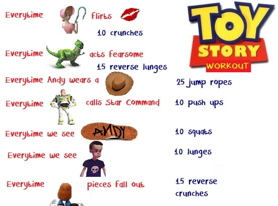 Toys For Exercise : Toy story movie workout exercise inspiration pinterest
