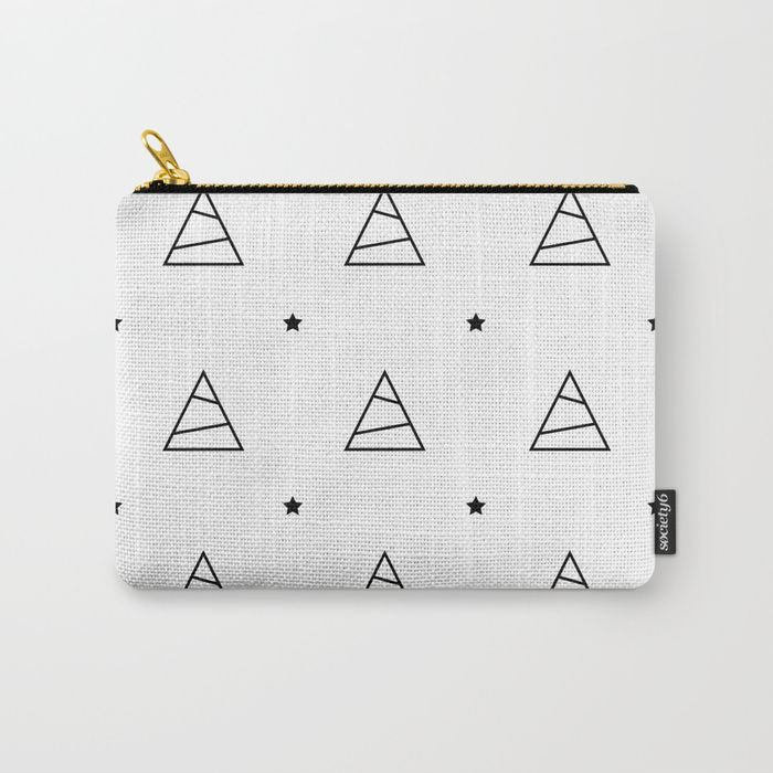 Trees and stars - christmas pattern Carry-All Pouch