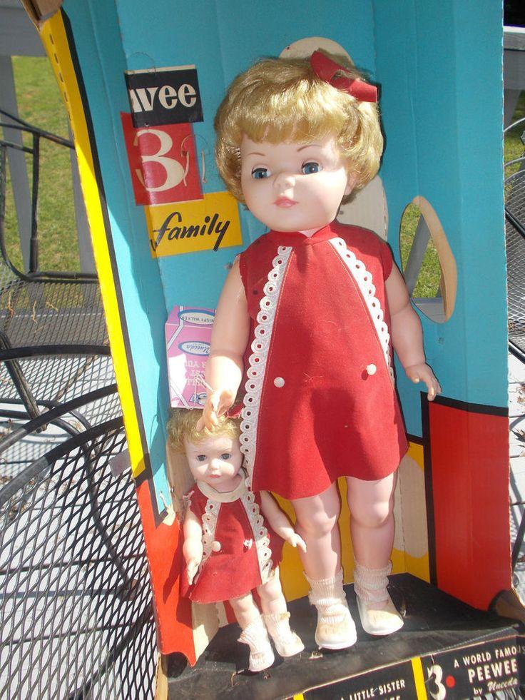 Rare Uneeda Wee Three Wispy Walker Sister Dolls 1960 S