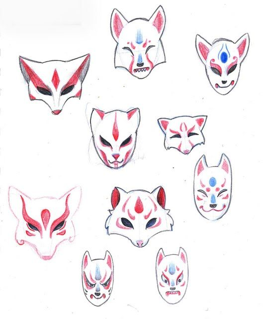 Traditional Kitsune Mask Tattoo Under my skin on pinterest fox tattoos ...