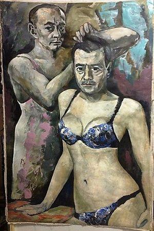 Police seize painting of Russian President Vladimir Putin wearing womens underwear