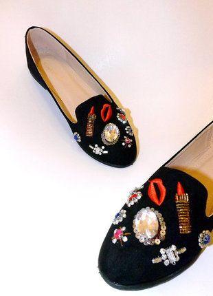Kup mój przedmiot na #vintedpl http://www.vinted.pl/damskie-obuwie/balerinki/17429418-oryginalne-czarne-baleriny-z-ozdobami-38  #shoes