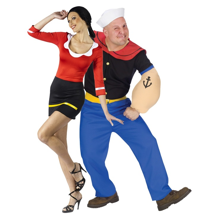 sexy olive oyl and popeye couples costume halloween pinterest costumes nautical party and. Black Bedroom Furniture Sets. Home Design Ideas