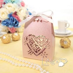 50 100 200 Love Heart Laser Cut Gift Candy Chocolate Bo Wedding Party Favor In Home Garden Supplies Favors
