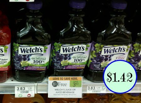 Welch's 100% Grape Juice Coupon For Publix BOGO Sale – Just $1.42 Per Bottle