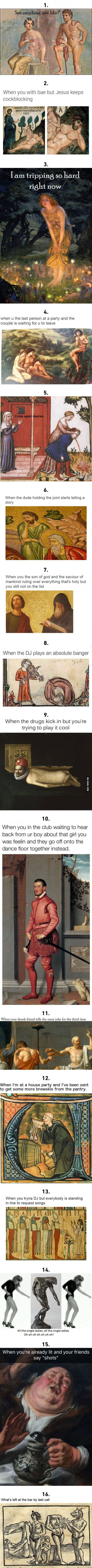 16 Historical Art Memes That Summarize Every Party