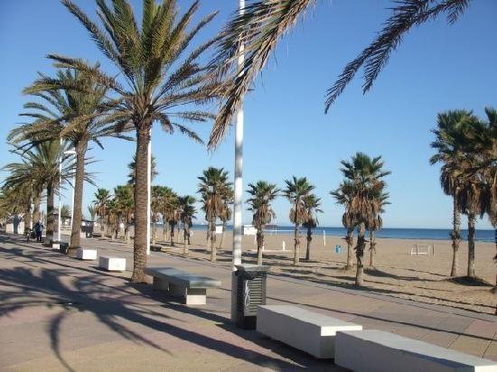 Gandia, Spain, boardwalk