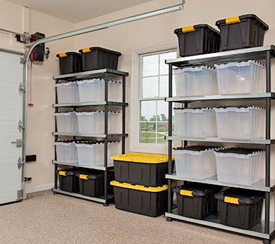 Garage organization is simple with the proper garage storage cabinets.  Garage shelving and tool organizers are two affordable garage storage  solutions.