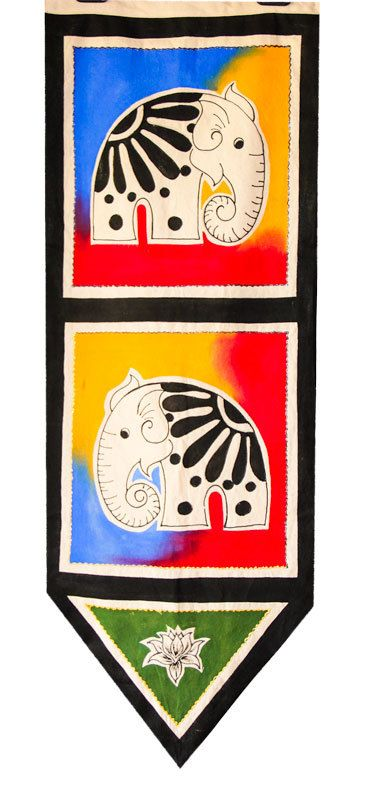"CeyPearl.com - Wall Art of an Elephant - Free Hand Fabric Art - 40"" (H) x 14"" (W), $47.83 (http://www.ceypearl.com/wall-art-of-an-elephant-free-hand-fabric-art-40-h-x-14-w/)"