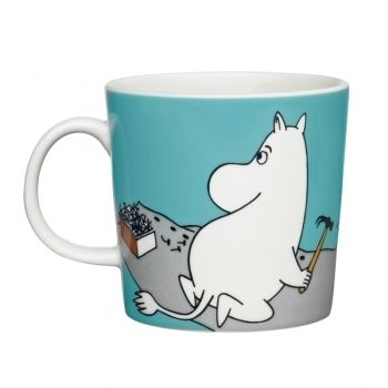 Moomin mug Moomintroll, turquoise