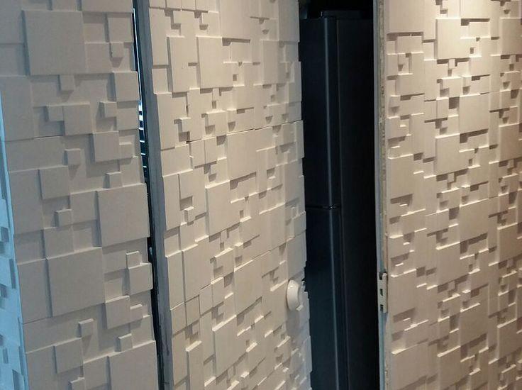 Revestimento de paredes com placas decorativas placa for Placas decorativas paredes interiores
