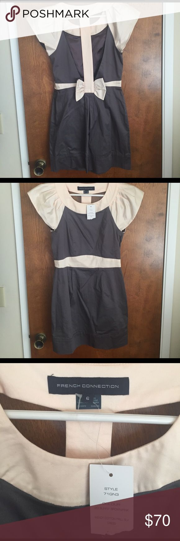 NWT French Connection Bow Back Dress Never worn and I've been obsessed with it, but have no where to wear it! My loss is your gain 😔 (NO LOW BALL OFFERS WILL BE ACCEPTED) French Connection Dresses Backless