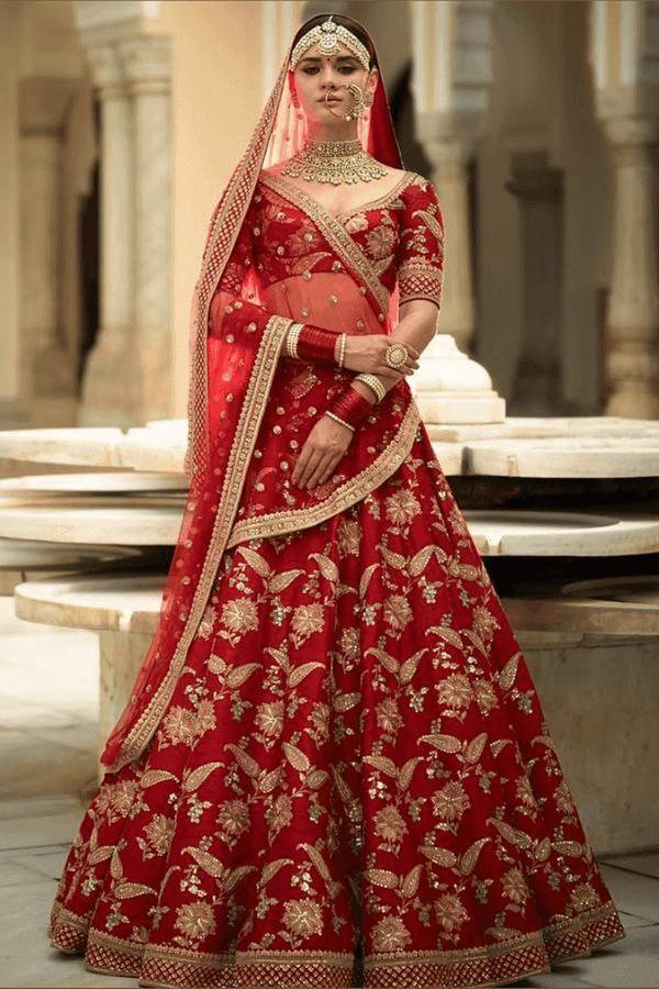 2bdf2a04c5dd Exclusive Heavy Designer Beautiful Bridal Red Color Bridal Lehenga Choli  FF114 in 2019 | Lehenga | Bridal lehenga, Bridal lehenga choli, Wedding  lehnga